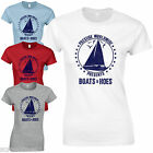 Boats & Hoes Ladies Fitted T-Shirt - Funny Step Brothers Film Humour Inspired