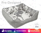 Faux Palomino Cowhide Dog Bed with Name Embroidery - Faux Fur, Country, Washable