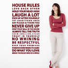 The Decal Guru House Rules Quote Wall Decal