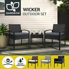 Gardeon Outdoor Furniture Setting Chairs Patio Wicker Rattan Chair Table Garden