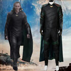 The Avengers Thor 3 Ragnarok Loki Tom Sakaar Outfit Cape Cosplay Costume Suit