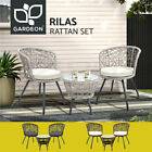 Gardeon Outdoor Furniture Rattan Bistro Set 3pcs Chair Table Patio Garden Wicker
