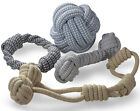 Внешний вид - Knitted Dog Rope Toy Braided Cotton Chew Teething Tug-Pull Fetch Bone Play