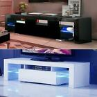 Kyпить High Gloss TV Unit Cabinet Stand with LED Lights Shelves Home Furniture на еВаy.соm