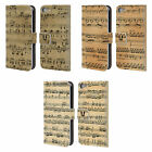 HEAD CASE DESIGNS MUSIC SHEETS LEATHER BOOK WALLET CASE FOR APPLE iPOD TOUCH MP3