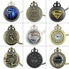 Vintage Quartz Retro Steampunk Pocket Watch Chain Necklace Pendant Antique Gift image