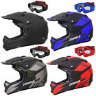 LEOPARD Attack Adult Motocross Helmet Motorbike MX Enduro Gloves Goggles