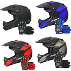 ZORAX Attack Adult Motocross Helmet Motorbike MX Enduro Gloves Goggles