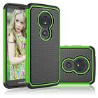 For Motorola Moto G6 Play/Moto G6 Forge Hybrid Dual Layer Rubber Hard Case Cover
