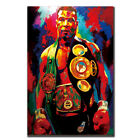 MikeTyson Boxer Boxing Sports Star modern Art fabric Poster wall Deco 24x3612x8