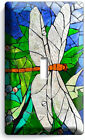 DRAGONFLY MOSAIC STAINED GLASS LOOK LIGHT SWITCH OUTLET WALL PLATE BEDROOM DECOR