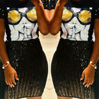 ❤Fashion Women Short Sleeve Glasses Print Sequin Patchwork Beaded Casual T-shirt