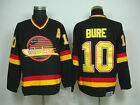 NEW Vancouver Canucks Vintage Hockey Jerseys 10 Pavel Bure CM Throwback Jersey