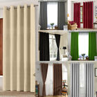Thermal Blackout Blockout Eyelet Ring Top Door Curtain 66x 84+free Tie Back Hot