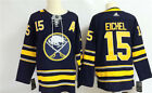 Mens Buffalo Sabres 15 Jack Eichel Navy Home Hockey Jersey