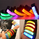 Safety Flashing LED Night Reflective Belt Strap Arm Band Armband For Running Man