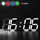 Alarm Clock Modern Digital Home Decoration LED Table Desk Wall Night 12/24 Hour