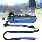 Hands Free Dog Leash Waist Belt Pouch Retractable Lead Walking Running Hiking