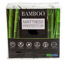 Mattress Protector Waterproof Bamboo Soft Hypoallergenic Fitted +2 pillow cases image