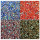 Faux Silk Brocade (Colorful Paisley) Jacquard Damask Kimono Fabric Material BL18