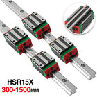 Kyпить Linear Guideway Rail HSR15 300mm-1500mm +4 square blocks HSR15CA на еВаy.соm
