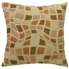 wf03a Beige Brown Wave Stone Checked Jacquard Throw Pillow Case Cushion Cover