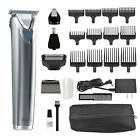 Clipper Stainless Steel Lithium Ion Plus Beard Trimmer Kit Trimming Cordless