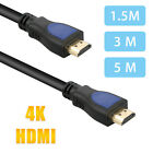 1.5/3/5M HDMI Cable V2.0 3D 1080P Ethernet 4K 60Hz- HDTV LCD LED for PS4 BLURAY