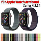 Kyпить Für Apple Watch Nylongewebte Band Nylon Sport Loop Armband Serie 4 3 2 1 38 42mm на еВаy.соm