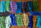 Внешний вид - SPECIAL PRICING CLEARING! Beach Sea Glass Flat Freeform Beads 17 Color Options!