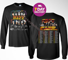 KISS 2019 'End of the Road' World Tour concert 2 Side Long Sleeve T-Shirt.S-3XL image