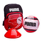 Puma Kids Football Backpack Set Training Cones Ball Bag Red 075326 01 Y50A