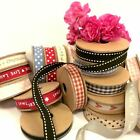 East Of India Ribbon ~ Polka Dots ~ Gingham ~ Stripes ~ Words ~ Hearts 3M Roll