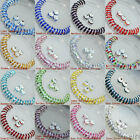 Set/100 Pcs Clear Round Loose Spacer Beads For Bracelet Jewelry Making DIY 8mm
