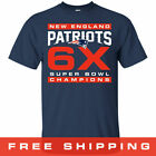 2019 Super Bowl LIII 53 Champions New England Patriots T Shirt NFL 6 Time Navy on eBay