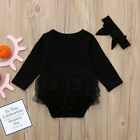 Newborn Baby Girl Long Sleeve Tulle Tutu Romper Jumpsuit Kids Dress Top Clothes