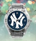 New York Yankees Stainless Steel Wrist Watch Quartz Movement. 2 Variations. NEW on Ebay