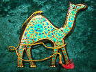 PAPIER MACHE INDIAN CAMEL DECORATIONS, HANDMADE IN KASHMIR, ADULT SIZE AVAILABLE