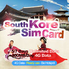 South Korea Travel 5/7 Days Unlimited Data Prepaid Sim Card No Call SK Network