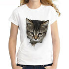 New Fashion Womens/Mens Casual Short Sleeve Cute Rock Cat 3D Print T-Shirt
