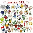 Fashion Rhinestone Crystal Flower Plant Bridal Bouquet Enamel Brooch Pin Jewelry image