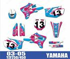 Bike Graphics Stickers Decals For Yamaha YZ250F YZ450F YZF250 YZF450 2003-2005