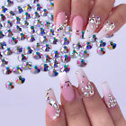 1440Pcs Nail Rhinestone 3D Jewelry Glass Nail Art Decoration AB Color Clear Tips