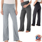 Women Maternity Wide Straight Lounge Pants Casual Solid Pregnancy Long Trousers