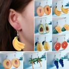 Fashion Watermelon Orange Peach Fruits Earrings Hook Eardrop Party Summer Gift image