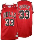 Scottie Pippen #33 Chicago Bulls Red Throwback Classic Swingman Jersey NEW