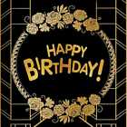 Birthday Flower Gold CP Photography Backdrop Printed Background AUT-163