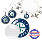 FREE DESIGN > SEATTLE MARINERS -Earrings, Pendant, Bracelet, Charm <FAST SHIP> on Ebay