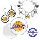 FREE DESIGN > LOS ANGELES LAKERS -Earrings, Pendant, Bracelet, Charm <FAST SHIP> on eBay