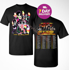 KISS 2019 'End of the Road' World Tour concert 2 side T-shirt Black.Size S-3XL. image